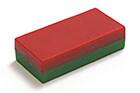 Quadermagnete rot/grün
