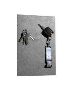 Schlüsselbrett aus Schiefer 30 cm x 20 cm