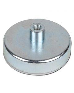 Flachgreifer Magnet Topfmagnet Hartferrit Gewindebuchse Ø 10 - 125mm - bis 130kg