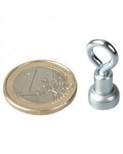 10 x Ösenmagnet / Magnet mit Öse Ø 10mm – Neodym (NdFeB) Zink - Haftkraft 2 kg