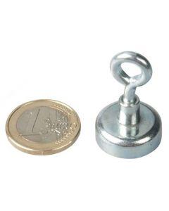 Ösenmagnet / Magnet mit Öse Ø 20mm – Neodym (NdFeB) Zink - Haftkraft 10 kg