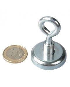 Ösenmagnet / Magnet mit Öse Ø 32mm – Neodym (NdFeB) Zink - Haftkraft 34 kg