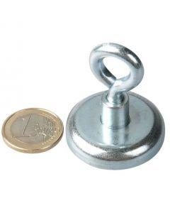 Ösenmagnet / Magnet mit Öse Ø 36mm – Neodym (NdFeB) Zink - Haftkraft 41 kg