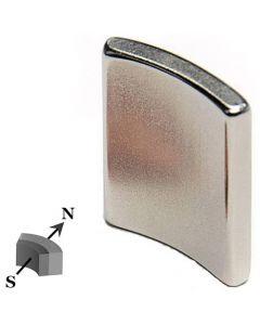 Segment Magnet 4 x 25mm, InnenR 33,5mm, Neodym N42, Nickel - Nord