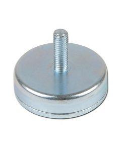 Flachgreifer / Topfmagnet Neodym mit Gewindezapfen verzinkt Ø 10mm - Ø 32mm