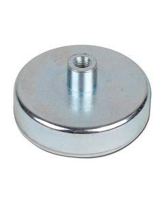 Flachgreifer Topfmagnet SmCo Gewindebuchse verzinkt Ø 6mm - Ø 32mm