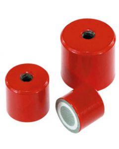Stabgreifer Haltemagnet AlNiCo rot lackiert Ø12,5-35mm – Innengewinde – bis 15kg