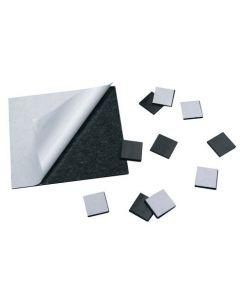 100 Takkis / Magnetplättchen selbstklebend 15mm x 15mm x 1,5mm