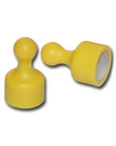10 x Kegelmagnet / Kegel Pinnwand Magnet klein Ø 12 x 20mm gelb, Neodym – 1,6kg