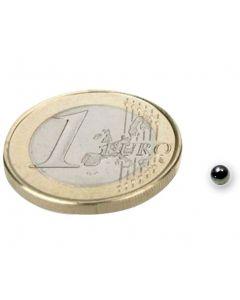 Magnetkugel / Kugelmagnet Ø  2 mm Neodym N40, Nickel - Haftkraft 70g