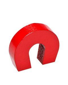 Hufeisenmagnet Schulmagnet 28 x 25 x 8mm AlNiCo rot - hält 2,6 kg