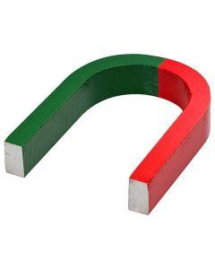 Hufeisenmagnet Schulmagnet AlNiCo rot/grün - 80 x 60 x 15mm - Haftkraft 3,2 kg