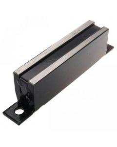 Magnet-System 100x23x32mm mit schwarzer Grundplatte | schraubbar, Haftkraft 29kg