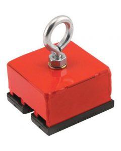 Schwerlastmagnet rot lackiert System zum heben, hängen, schrauben Haftkraft 18kg