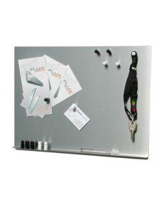 Magnettafel / Magnetpinnwand / Magnetboard aus Edelstahl - 40 cm x 50 cm