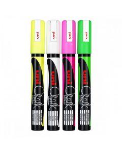 3 x Kreidestift Kreidemarker, pink grün gelb abwischbar fluoreszierend 3 Stück