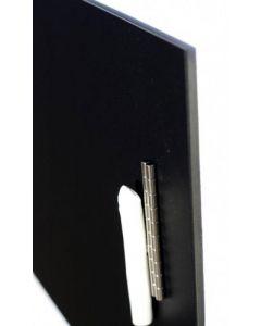 Magnettafel aus Edelstahl / Pinnwand mit Tafelfolie, schwarz - 110 cm x 30 cm