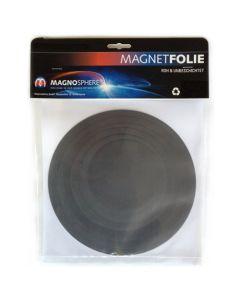 10 x Magnetfolie Magnetschild roh braun rund 0,5 mm dick - Ø 10 - 20cm