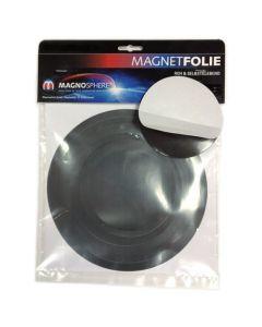 10 x Magnetfolie Magnetschild selbstklebend, rund 0,7 mm dick - Ø 10 - 20 cm