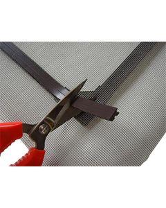 Fliegengitter-Magnet-Set, Gitternetz 2m, Magnetband Typ A+B 1,5mm x 12,7mm je 6m