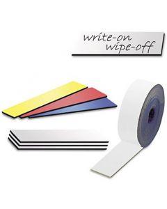 Magnetband Magnetstreifen farbig beschreibbar abwischbar, Breite 30mm - 5m Rolle