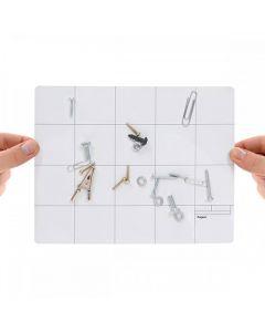 Magnetmatte Arbeitsmatte Reparaturmatte magnetisch Magnetfolie weiss 20cm x 25cm
