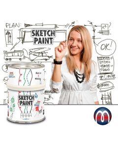 Whiteboard-Farbe Wandfarbe weiß glänzend, beschreibbar bemalbar abwischbar 0,5L