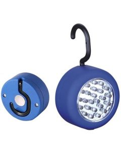 24 LED Magnet-Lampe Magnet-Leuchte mit Aufhänger, Taschenlampe Schranklampe blau