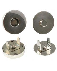 10 x Magnetverschluß Magnetknopf Magnetschließe aus Metall - rund - 10-18mm