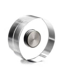 6 x Design-Magnete Acryl Neodym, transparent Ø 25 mm - hält 2,5 kg - Dekomagnete