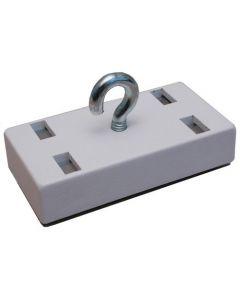 Dekorations Magnet 53mm x 27,5mm mit Haken u. weiss. Gehäuse hält 18 kg - 40 kg