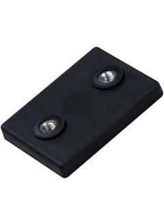 Magnet-System Neodym 43x31x6 mm gummiert mit 2x Innengewinde M4, Haftkraft 10kg