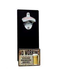 Magnetischer Wand-Flaschenöffner Länge: 25 cm Breite: 11 cm Wand-Abstand: 1,3 cm