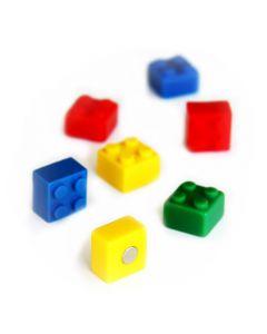 4 x Kühlschrankmagnete Brick 15x15x11mm Magnete für Pinnwand Magnettafel