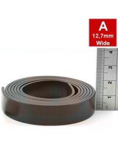 Magnetband Magnetstreifen selbstklebend 1,5mm x 12,7mm x  5m, Typ A, anisotrop