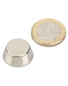 Konusmagnet Ø 25,0/13,0 x 10,0 mm – Neodym N38, Nickel - Haftkraft 8,6 kg