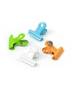 Magnete Mini-Magnetclip aus Metall im 4er Set 2 x 2 x 1,6 cm