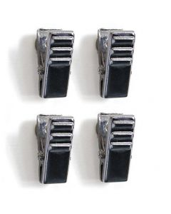 Magnet-Clip CLIPPER - 4er Set, chrome - 10mm breit - mit starken Magneten, 25mm lang