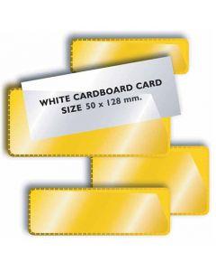 Magnetische Displaytasche Etikettenhalter gelb - 50 Taschen inkl. Papier-Einlage
