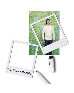 6 x Magnetrahmen / Magnetische Bilderrahmen Fotorahmen weiß - 6er-Set