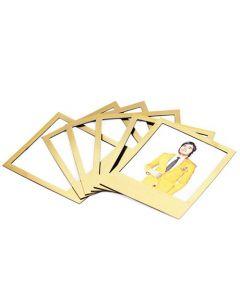 6 x Magnetrahmen / Magnetische Bilderrahmen Fotorahmen Gold Edition - 6er-Set