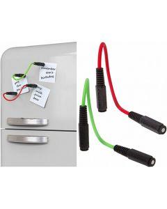MagNotes, magnetische Stecker, aus Silikon, rot und grün - im 2er Set - 29 cm