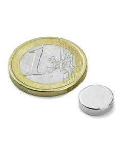 Scheibenmagnet / Rundmagnet Ø 10x 3mm – Neodym N35 (NdFeB) Nickel - hält 1,8kg