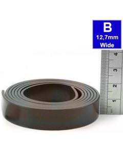 Magnetband Magnetstreifen selbstklebend 1,5mm x 12,7mm x 30m, Typ B, anisotrop
