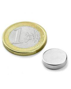 Scheibenmagnet / Rundmagnet Ø 12x 4mm – Neodym N40 (NdFeB) Nickel - hält 3,5 kg