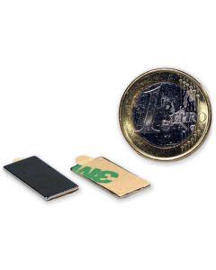 Quadermagnet selbstklebend 3M - 20 x 10 x 1 mm, Neodym N45, hält 0,9kg