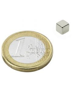 Würfelmagnet 5 x 5 x 5mm Neodym N42, Nickel – Haftkraft 1,5kg