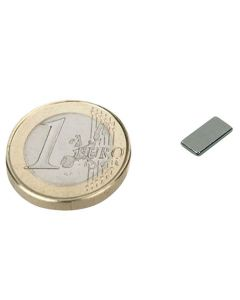 Quadermagnet Magnet-Quader  10 x   5 x  1mm Neodym N52, Nickel - hält 0,6 kg