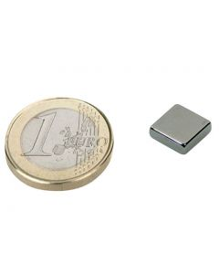 Quadermagnet Magnet-Quader  10 x 10 x  3mm Neodym N45, Nickel - Haftkraft 1,7 kg