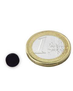 Scheibenmagnet Rundmagnet Ø  8 x  2mm Ferrit Y30 - hält 150g - Keramik-Magnet